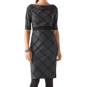 NWOT White House Black Market Plaid Dress